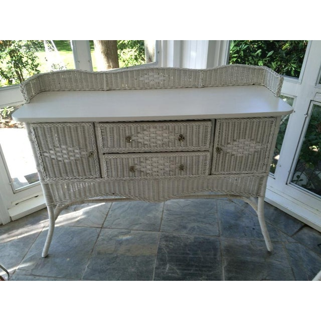 1920 Antique Wicker Sideboard - Image 3 of 3
