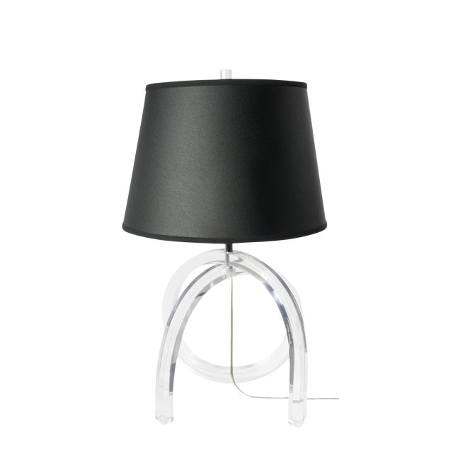 Lucite Loop Table Lamp - Image 1 of 5