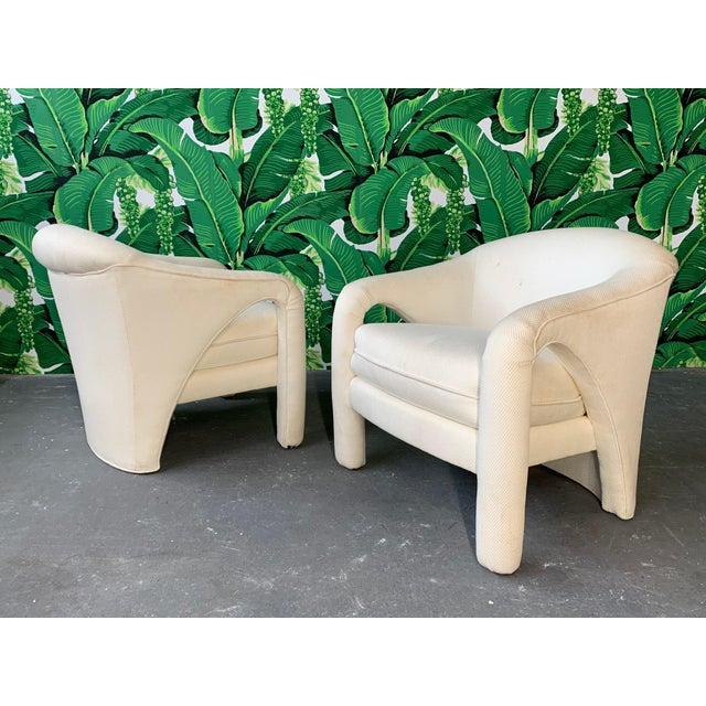 Pair of Vladimir Kagan Sculptural Club Chairs For Sale - Image 11 of 11
