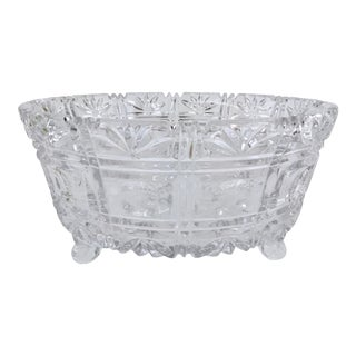 American Brilliant Cut Glass Ferner For Sale