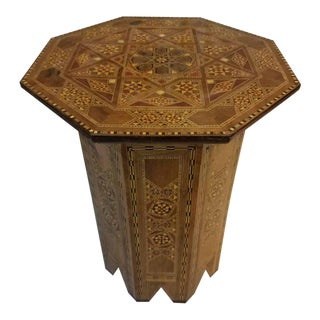 Syrian Moroccan Marquetry Side Table