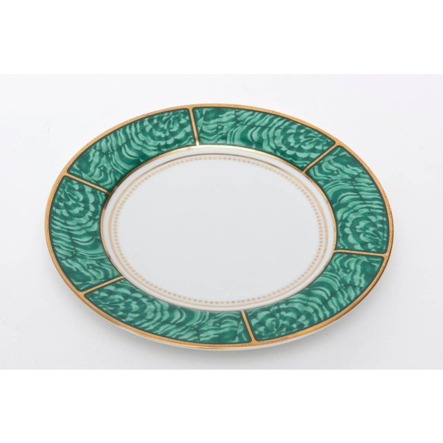 1960s Georges Briard Imperial Malachite Porcelain China Service - Set of 16 For Sale - Image 5 of 10