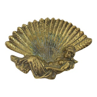 Art Nouveau Brass Trinket Dish For Sale