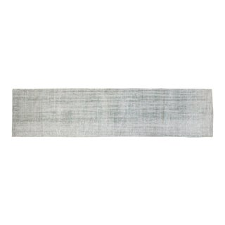 "Vintage Distressed Overdyed Oushak Rug Runner - 2'7"" X 10'11"""