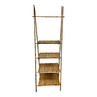 Bamboo and Rattan Shelves For Sale