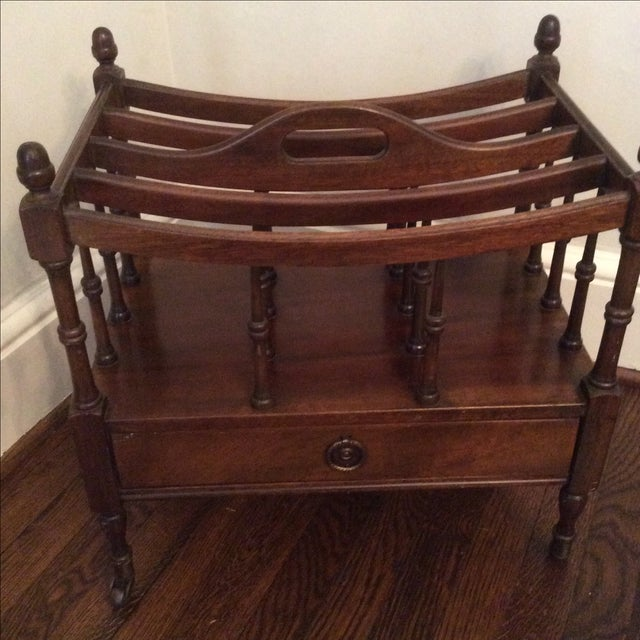 Regency Style Mahogany Canterbury Magazine Rack For Sale In Atlanta - Image 6 of 7