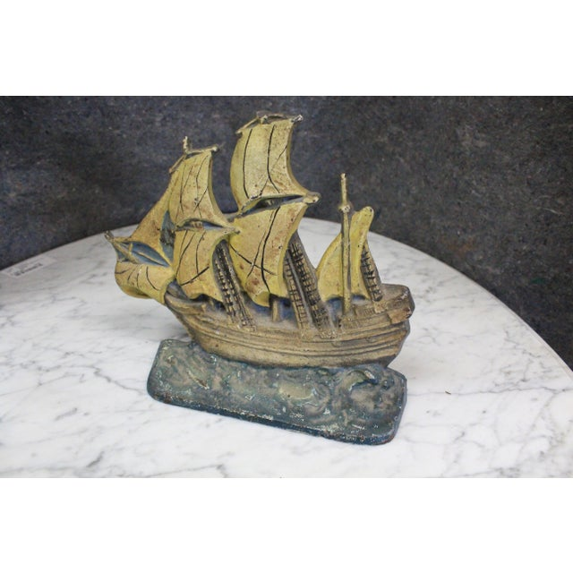 Late 20th Century Late 20th Century Vintage Mayflower Doorstop For Sale - Image 5 of 5