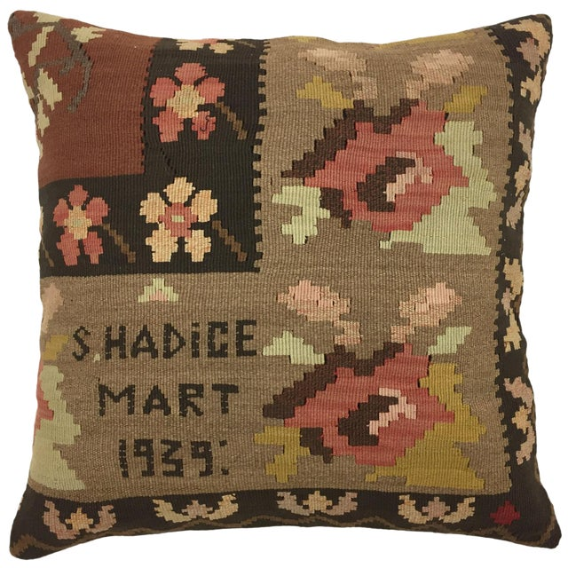 """Dated 1939 Kilim Pillow 