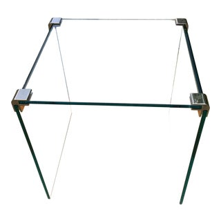 1970's Modern Glass Waterfall Coffee Table For Sale