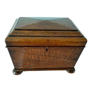 1900's Mahogany Sarcophagus Tea Caddy For Sale