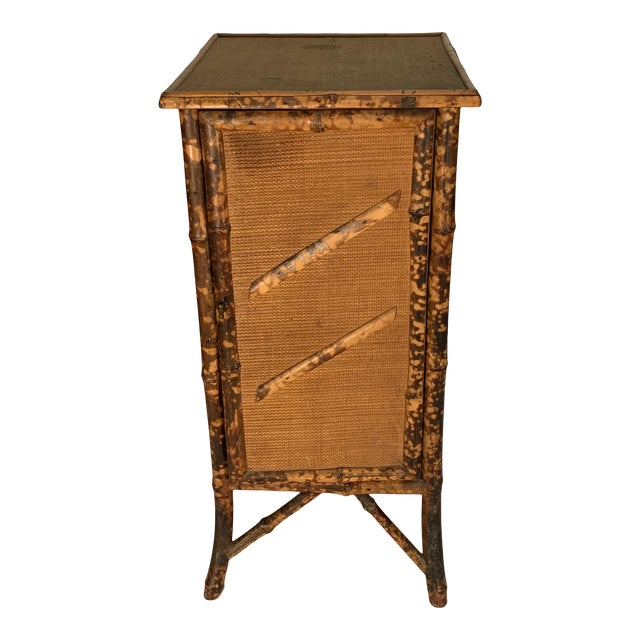 1920s Chinese Bamboo Cabinet For Sale
