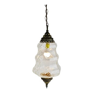Mid Century Moroccan Style Glass Pendant Light For Sale