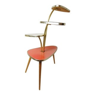 1960s Atomic Danish Modern Plant Stand For Sale