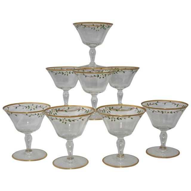 Vintage Footed Cocktail Glasses - Set of 8 - Image 1 of 5