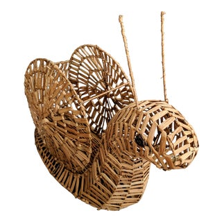 Mario Lopez Torres Style Rattan Snail Sculpture For Sale