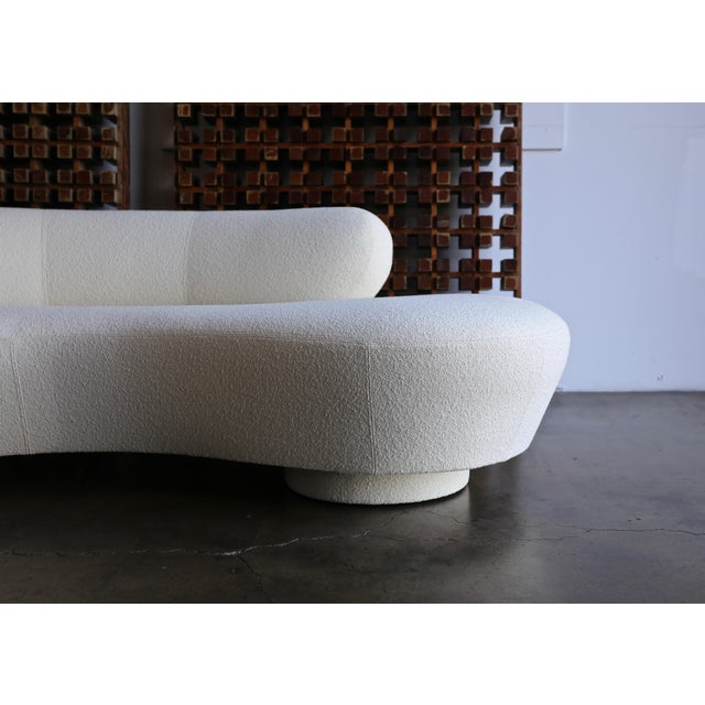 Vladimir Kagan Serpentine Sofa for Directional. This piece has been upholstered in Knoll Classic Boucle. A iconic freeform...