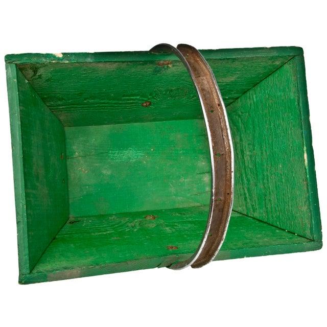 Vintage French Green Gardening Trug - Image 5 of 6