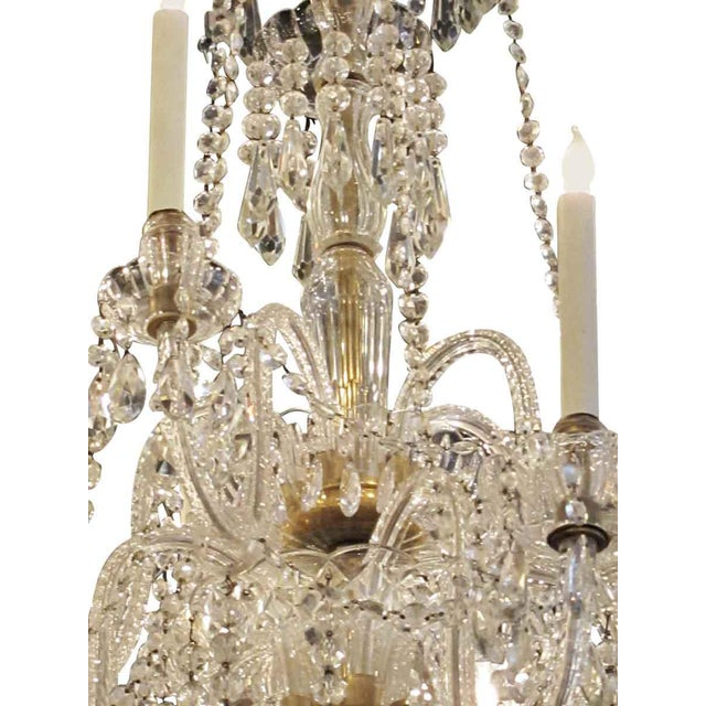 Tall Eight Arm Crystal Chandelier For Sale In New York - Image 6 of 7