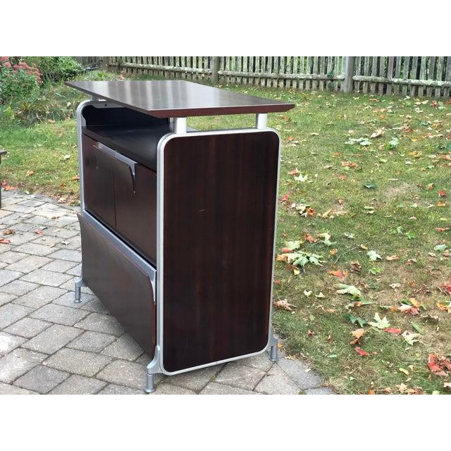Brown Herman Miller Rosewood & Metal Cabinet For Sale - Image 8 of 13