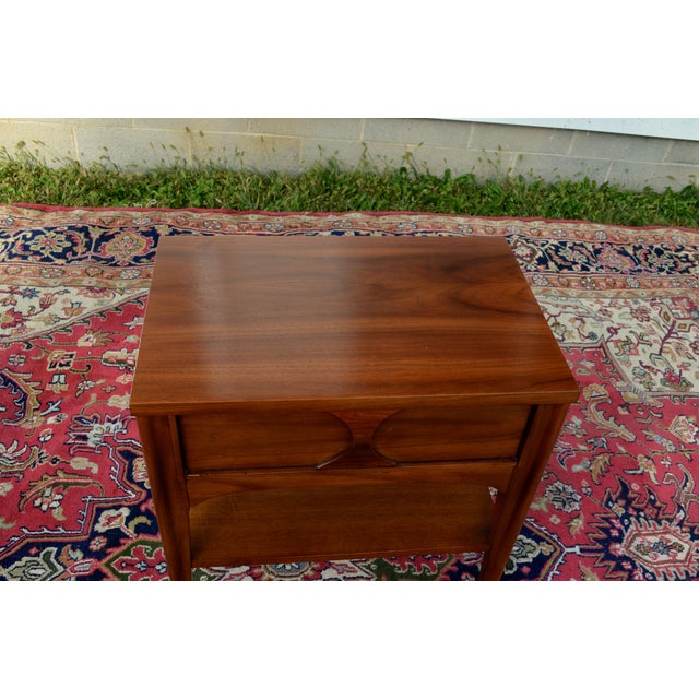 1960s Mid Century Modern Walnut and Rosewood Perspecta Night Stand by Kent Coffey For Sale - Image 9 of 12