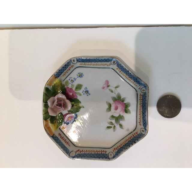 1940s Octagonal China Vide-Poche/Coin Dish For Sale - Image 5 of 7