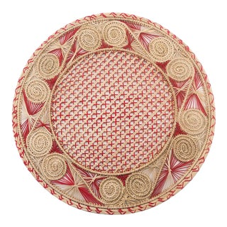 Red and Cream Colombian Placemat For Sale