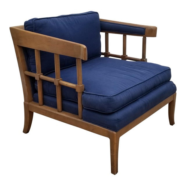 1970s Mid-Century Modern Barrel Back Club Lounge Chair For Sale