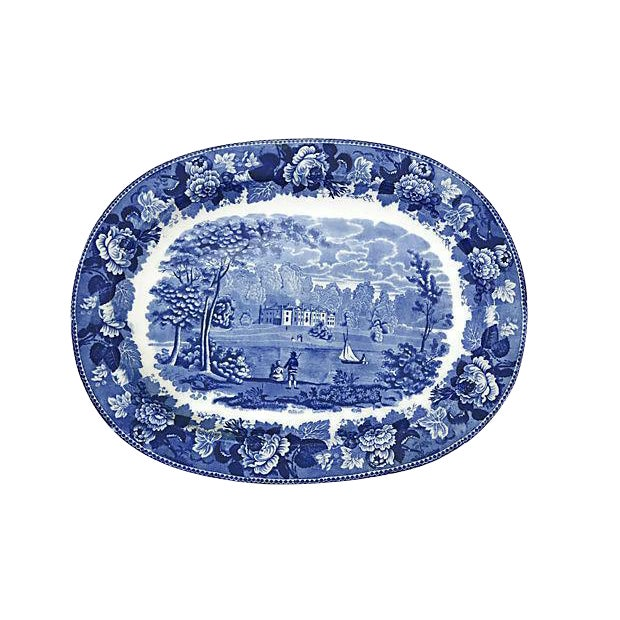 Wedgwood Transferware Landscape Platter For Sale