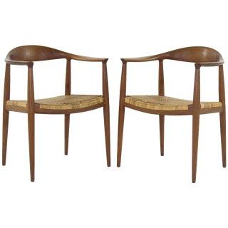 1950s Hans Wegner Johannes Hansen Model Jh501 Chair - a Pair For Sale