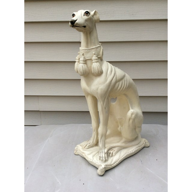 1970s Mid-Century Italian Pottery Greyhound For Sale - Image 13 of 13