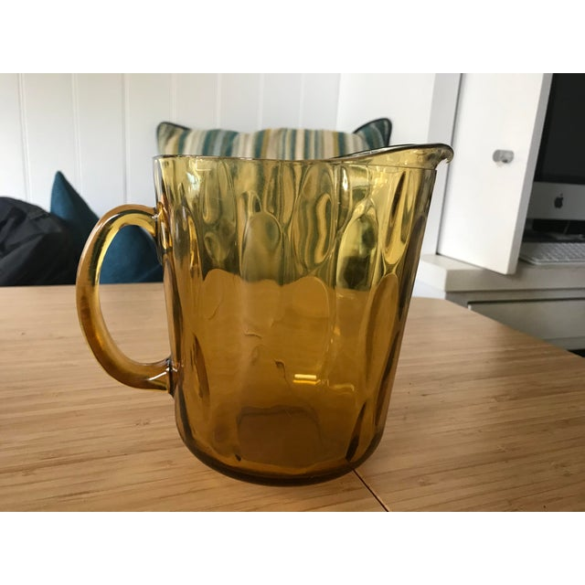Indiana Glass Amber Glass Pitcher - Image 2 of 5