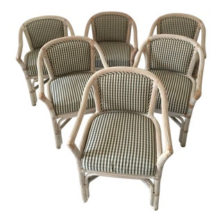 Henry Link Wicker Chairs - Set of 6