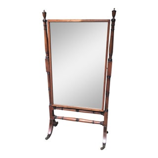 Antique Cheval Standing Dressing / Floor Mirror For Sale