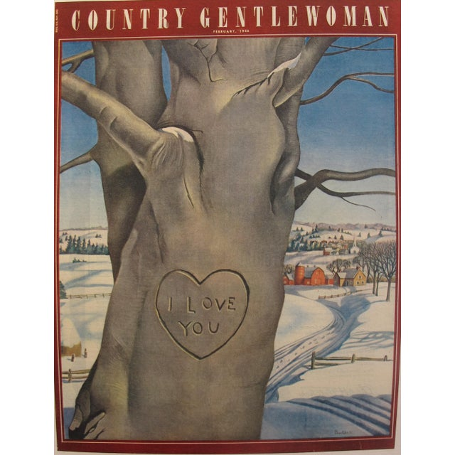 Date: 1946 Size: 10.5 x 13.5 inches This charming vintage magazine cover was too adorable to resist! Country Gentlewoman...