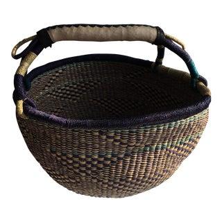 Large African Bolga Ghana Woven Basket