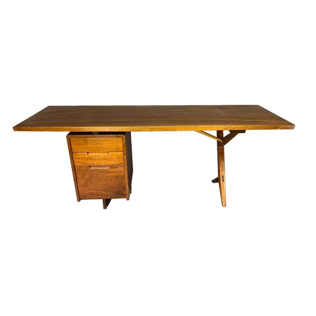 Brown George Nakashima Conoid Writing Desk For Sale - Image 8 of 8