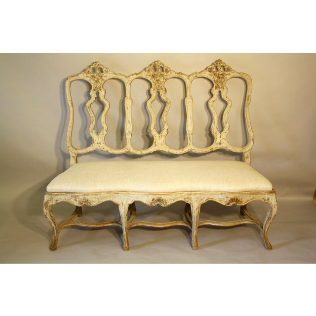 19th C Portuguese Carved Wood Bench For Sale - Image 10 of 11