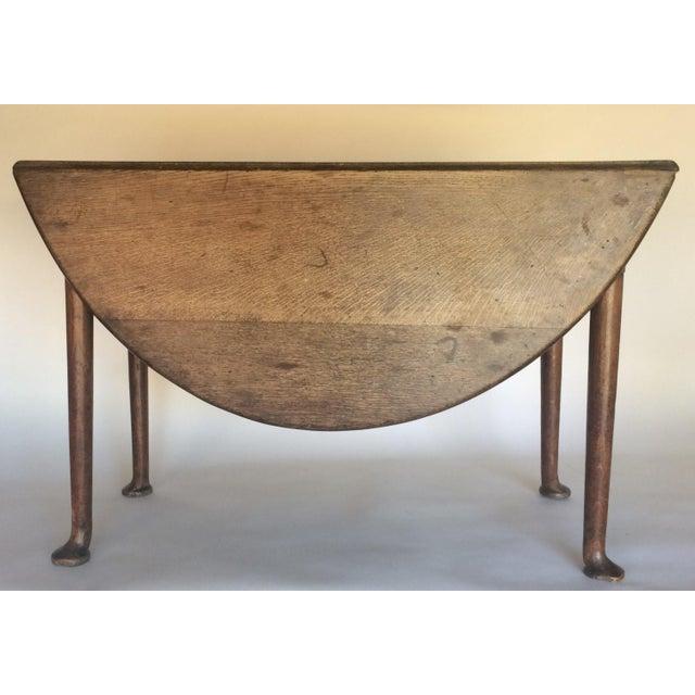 Antique 19th C. English Oak Drop-leaf Gate Leg Table - Image 10 of 10