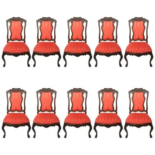 Portuguese Dining Chairs - Set of 10 For Sale