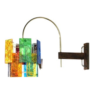 Mid-Century Modern Colorful Wall Sconce Light Fixture For Sale