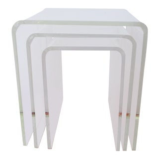 Mid-Century Lucite Nesting Tables - Set of 3