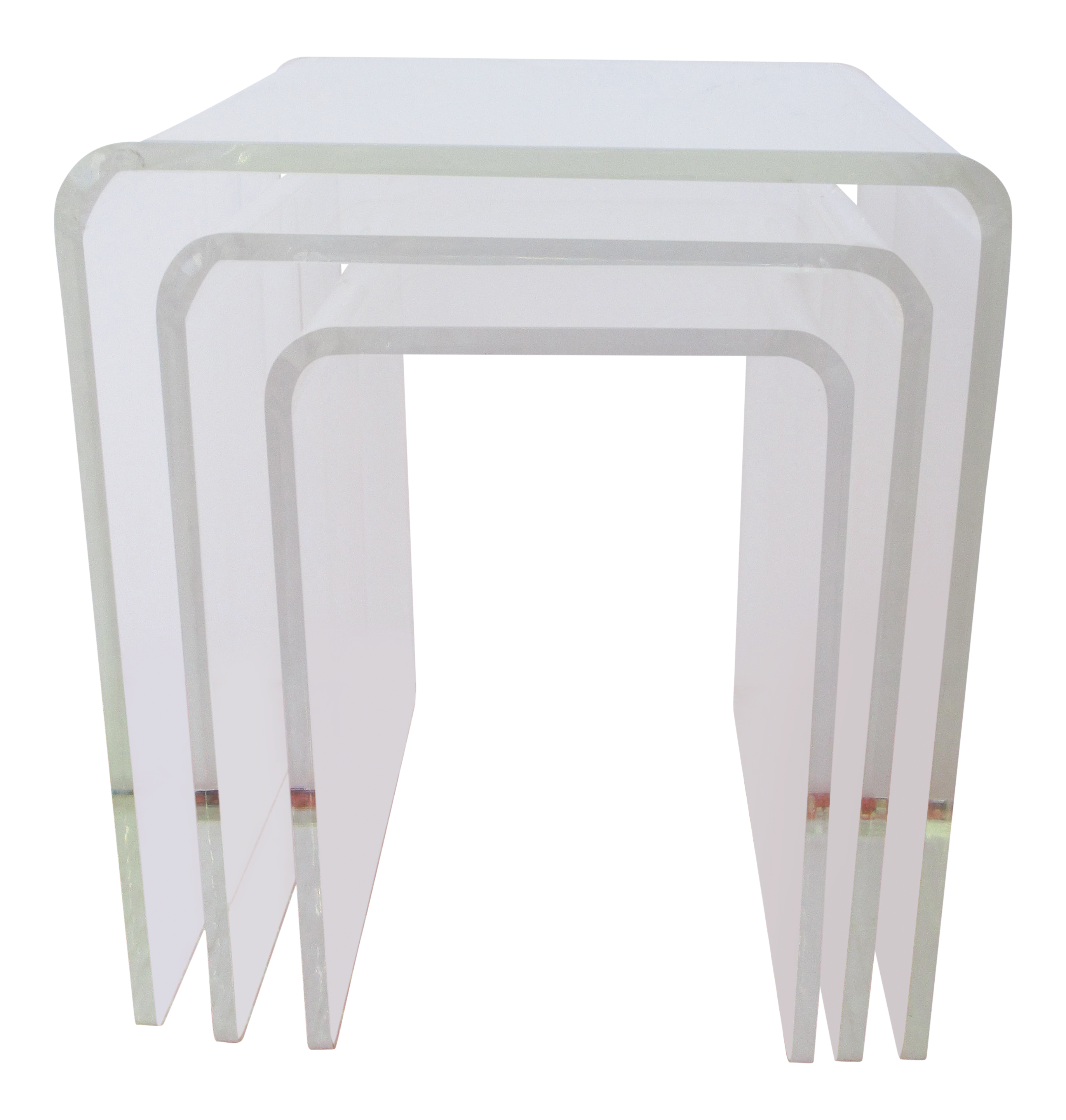 Mid-Century Lucite Nesting Tables - Set of 3 - Image 1 of 13  sc 1 st  Chairish & Mid-Century Lucite Nesting Tables - Set of 3 | Chairish
