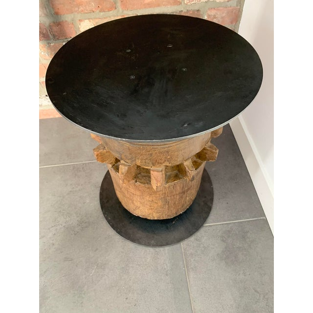 Early 20th Century 20th Century Industrial Hardwood Cog Stool For Sale - Image 5 of 9