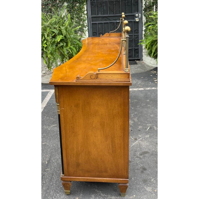 Metal Grosfeld House Hollywood Regency Empire Credenza Buffet Server For Sale - Image 7 of 9