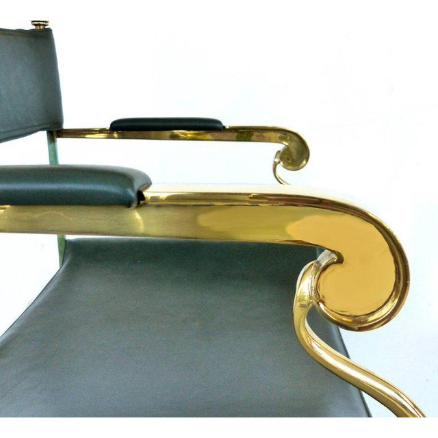 Pair of Brass Director's Chairs by Valenti, Spain For Sale - Image 9 of 11