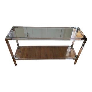 Jonathan Adler Jacques Lucite Console Table For Sale