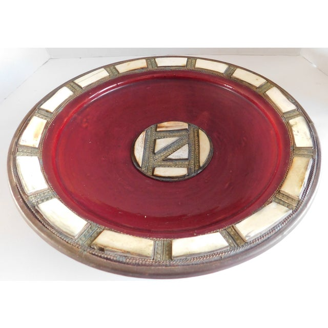 Incredible vintage** La Quinta Indian tribal bowl rich with color and history. This beautiful claret-colored glazed...