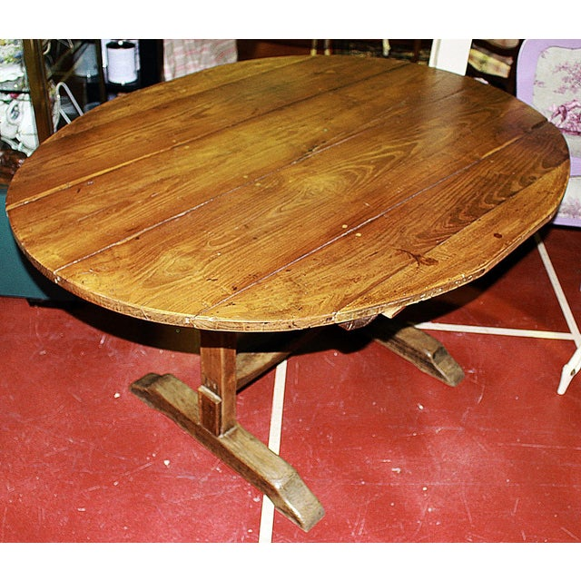 Antique French Wine Tasting Table - Image 2 of 8