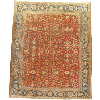 "Pasargad Antique Original Persian Sultanabad Hand-Knotted - 9'1"" X 11' For Sale"