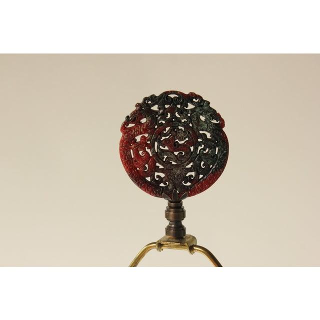 Japanese Goldstone Cloisonne Table Lamp - Image 8 of 8